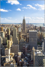 Gallery Print  Manhattan skyline in New York City, USA - Jan Christopher Becke