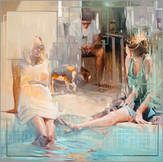 Wandsticker  Am Pool - Johnny Morant