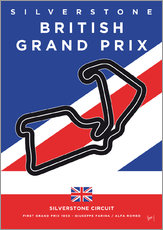 Gallery Print  My F1 SILVERSTONE Race Track Minimal Poster - chungkong