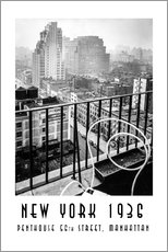 Gallery Print  Historisches New York: Penthouse, 56th Street, Manhattan - Christian Müringer