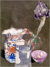 Wandsticker  Graue Iris - Charles Rennie Mackintosh