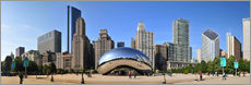 Gallery Print  Panorama-Jahrtausend-Park in Chicago mit Cloud Gate - HADYPHOTO by Hady Khandani