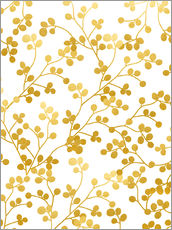 Gallery Print  Golden Vines - Uma 83 Oranges