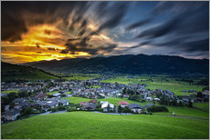 Gallery Print  Kaprun sunset - PhotoArt Hartmann