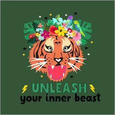 Wandsticker Unleash your inner beast