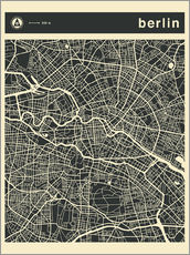 Gallery Print  BERLIN CITY MAP - Jazzberry Blue