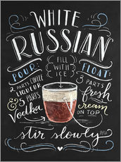 Gallery Print  White Russian Rezept (Englisch) - Lily & Val