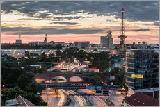 Gallery Print  Berlin Skyline City West - Sven Hilscher