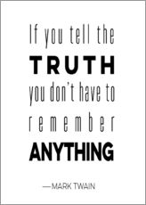 Gallery Print  Truth is Anything - Mod Pop Deco