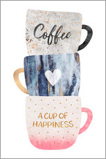 Gallery Print  A cup of happiness - Elisabeth Fredriksson