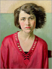 Wandaufkleber  Mädchen in rosa - William Rothenstein