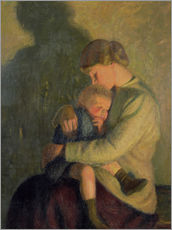 Gallery Print  Mutter und Kind: Kerzenlicht - William Rothenstein