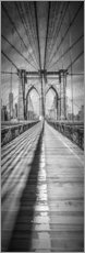 Wandsticker  NEW YORK CITY Brooklyn Bridge Panorama - Melanie Viola