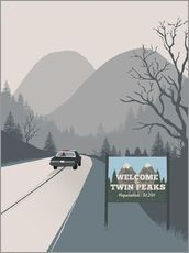 Wandsticker  Welcome to Twin Peaks - 2ToastDesign