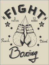Gallery Print  Fight - Boxing
