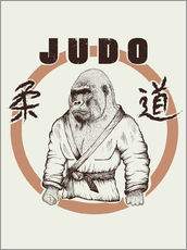 Wandsticker  Judo Art