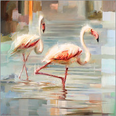 Gallery Print  Sardinische Flamingos I - Johnny Morant