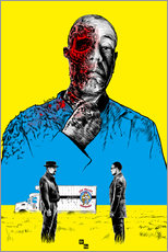 Wandsticker  Breaking Bad Gus Fring death whit blood - Paola Morpheus