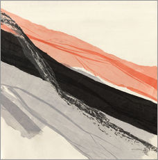 Gallery Print  Peach and Black abstract - Jan Sullivan Fowler