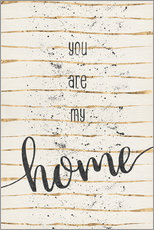 Wandaufkleber  TEXT ART You are my home - Melanie Viola