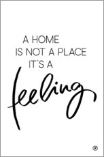Wandsticker  A home is - m.belle