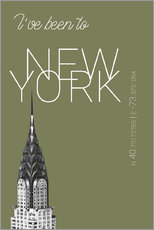Gallery Print  Pop Art New York Chrysler Building - I've been to - Calliste-Grün - campus graphics