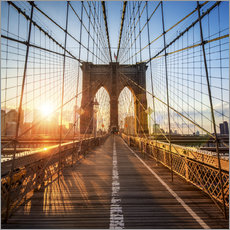 Wandsticker  Brooklyn Bridge in New York City - Jan Christopher Becke