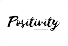 Wandsticker  Positivity is the key to happiness (Englisch) - Ohkimiko