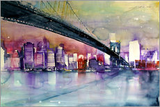 Gallery Print  New York, Brooklyn Bridge III - Johann Pickl