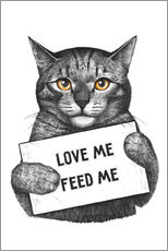Wandsticker  Love me, feed me - Valeriya Korenkova
