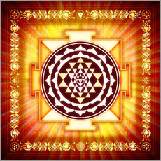 Gallery Print  Sri Yantra Energy Light - Dirk Czarnota