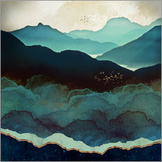 Gallery Print  Indigo-Berge - SpaceFrog Designs