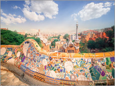 Gallery Print  Der Park Guell in Barcelona