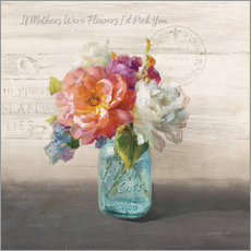 Wandsticker French Cottage Bouquet I