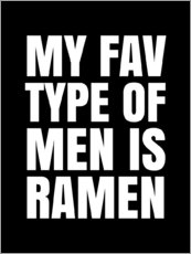 Wandsticker  My Fav type of men is ramen - Creative Angel