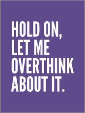 Wandsticker  Hold on, let me overthink about it - Creative Angel