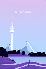 Wandsticker  München Illustration - Katinka Reinke