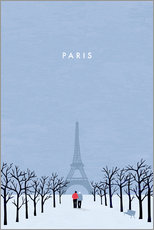 Wandsticker  Paris Illustration - Katinka Reinke