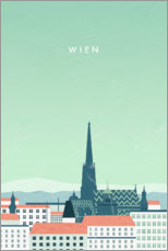 Premium-Poster Wien Illustration