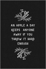Gallery Print  An apple a day keeps anyone away - Orara Studio