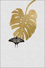 Gallery Print  Schmetterling & Monstera - Orara Studio
