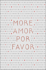 Wandsticker  More amor por favor II - Orara Studio