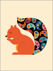 Gallery Print  Paisley-Eichhörnchen - Andy Westface