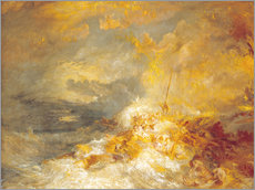 Gallery Print  Feuer auf dem Meer - Joseph Mallord William Turner