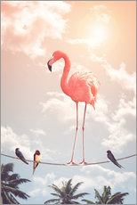 Wandaufkleber  FLAMINGO & FRIENDS - Jonas Loose