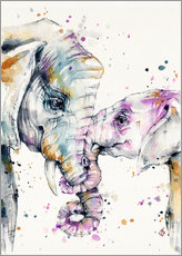 Wandsticker  That Type Of Love (elephants) - Sillier Than Sally