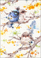 Wandsticker Family Life (fairy Wren)