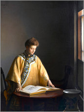 Wandsticker  Die gelbe Jacke - William McGregor Paxton