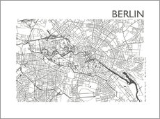 Gallery Print  Stadtplan von Berlin - 44spaces
