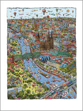 Gallery Print  Köln - Cartoon City